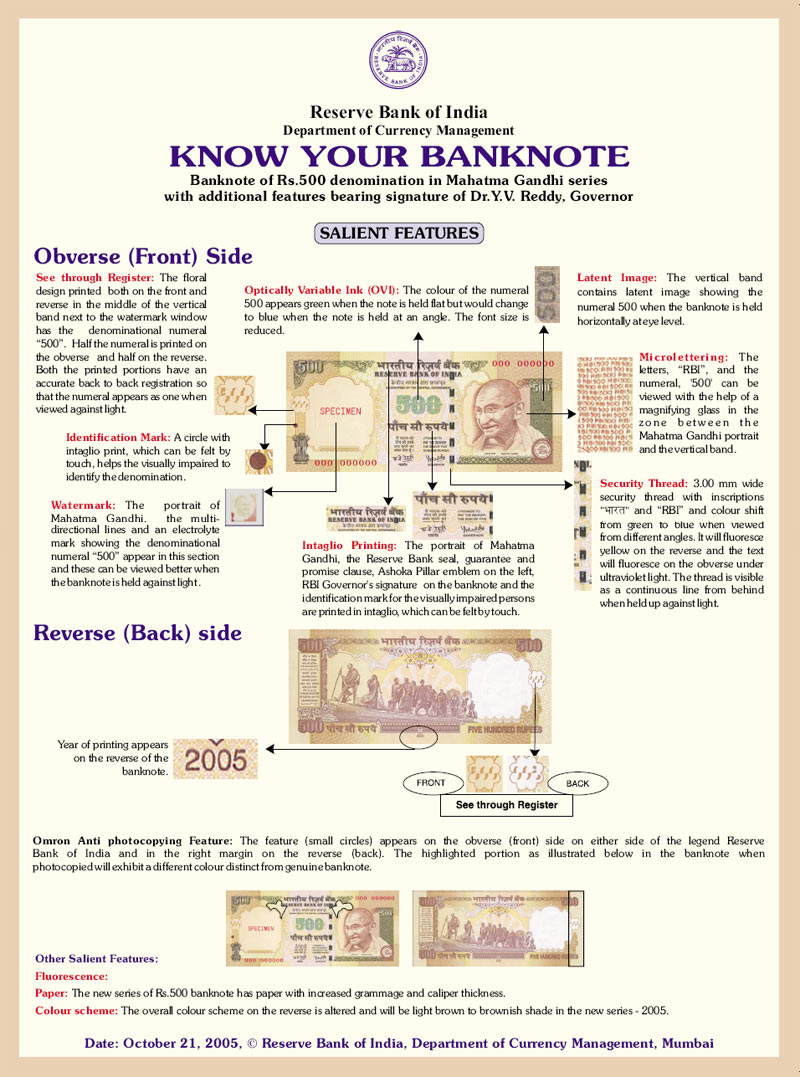 Fake Currency Note Series identified in bangalore