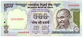 Image : Rupees Five Hundred