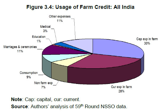 Figure 3.4: Usage of Farm Credit: All India