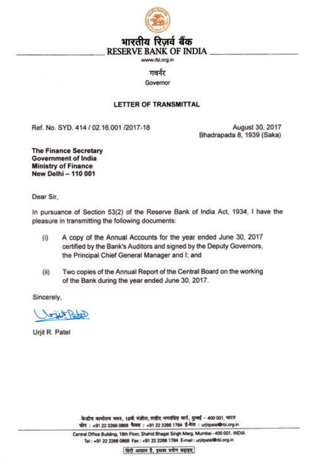the letter of transmittal